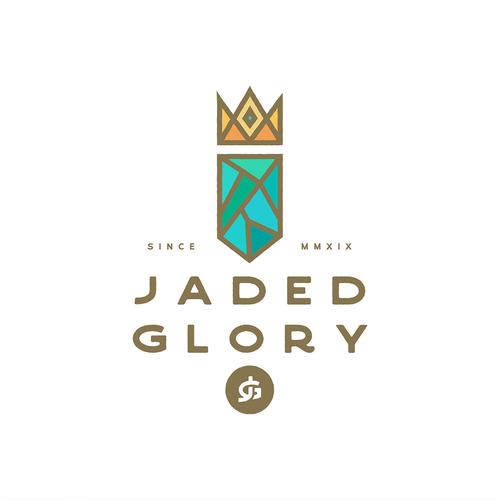 Hemp oil logo with the title 'Jaded Glory'