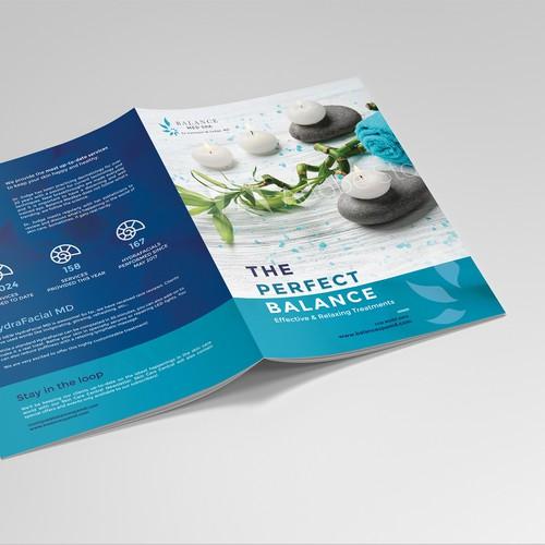 Yoga studio design with the title 'Balance MedSpa brochure'