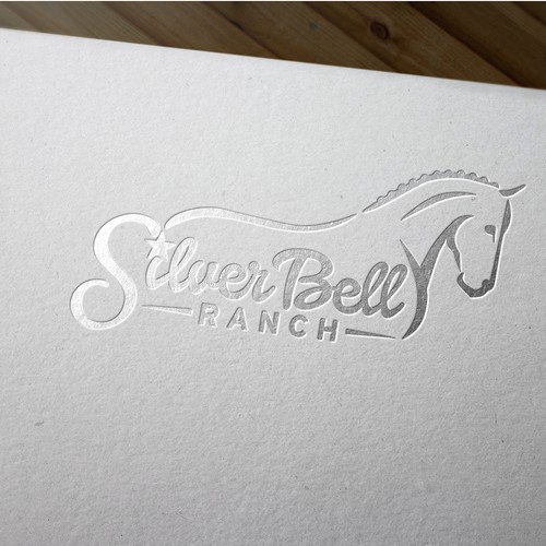 Ranch design with the title 'Classy logo for dressage horse facility'