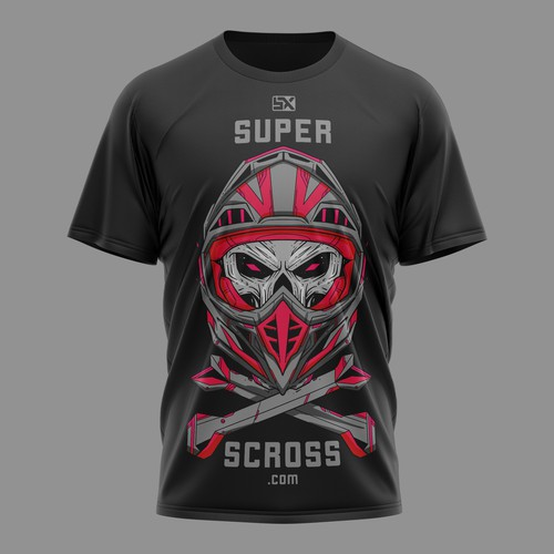 Motorbike design with the title 'Motocross T-shirt design'