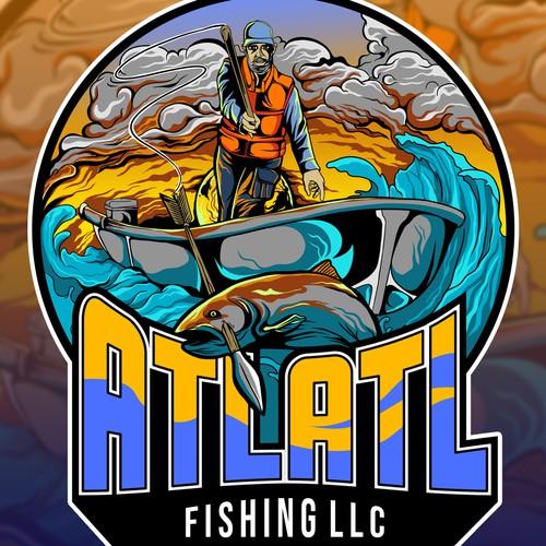 Fishing illustration with the title 'Fishing illustration'