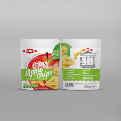 Crispy apple chips pouch design