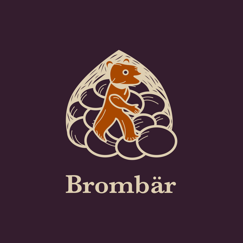 Sketching logo with the title 'Brombär'