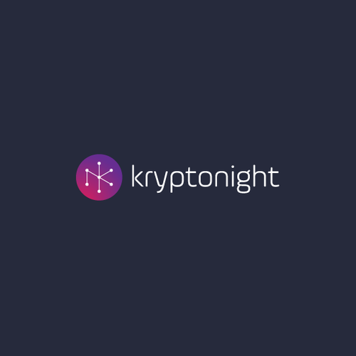 Planet logo with the title 'kryptonight logo design'