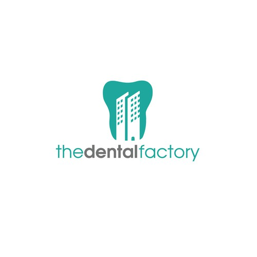 Teeth logo with the title 'The Dental Factory logo'