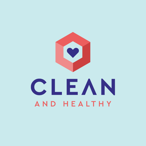 Heart logo with the title 'CLEAN AND HEALTHY'