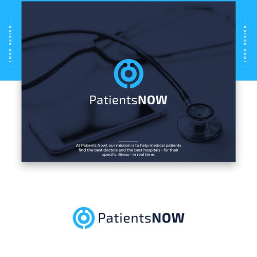 "Doctor logo with the title 'Design a Captivating Logo for ""Patients Now!""'"