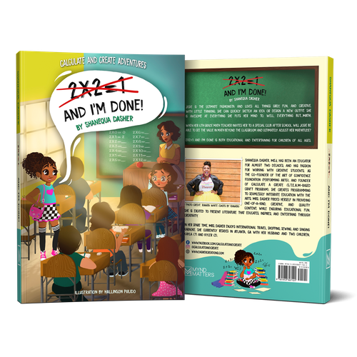 """Adventure illustration with the title 'Illustration - Children´s Book """"2X2 = 1 And I´m Done!"""" written by Shanequa Dasher'"""