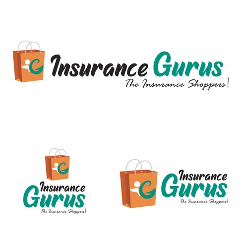 Shopping bag logo with the title 'Insurance Guru'