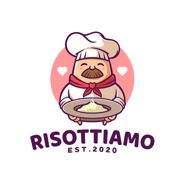 Rice logo with the title 'Cute Chef Logo'