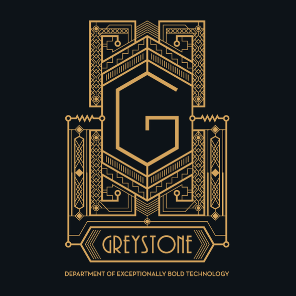 Art Deco design with the title 'Art Deco logo for Greystone'