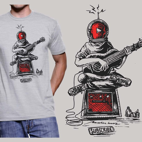Musician design with the title 'Creative T-shirt for Youtuber contest'
