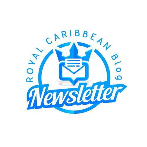 Caribbean design with the title 'Modern Logo Royal Caribbean Blog Newsletter'