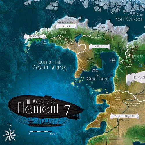 Map illustration with the title 'Vintage fantasy World Map illustration'