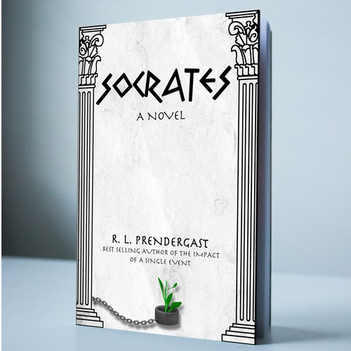Ancient book cover with the title 'Socrates - a novel'
