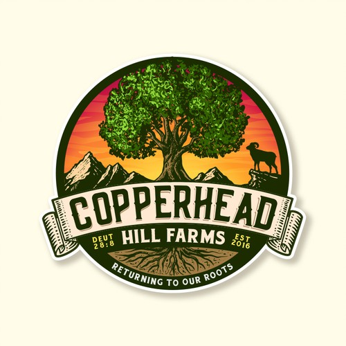 Birch logo with the title 'Copperhead Hill Farms'