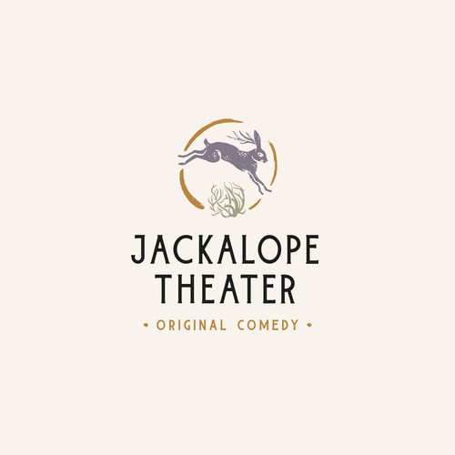 Comedy logo with the title 'JACKALOPE THEATER'