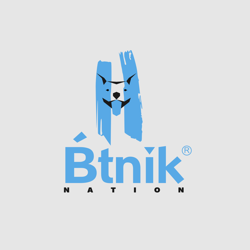 Pitbull design with the title 'Pit bull mascot'