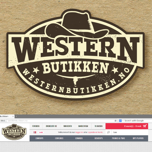Country logo with the title 'logo for Western butikken - online store'