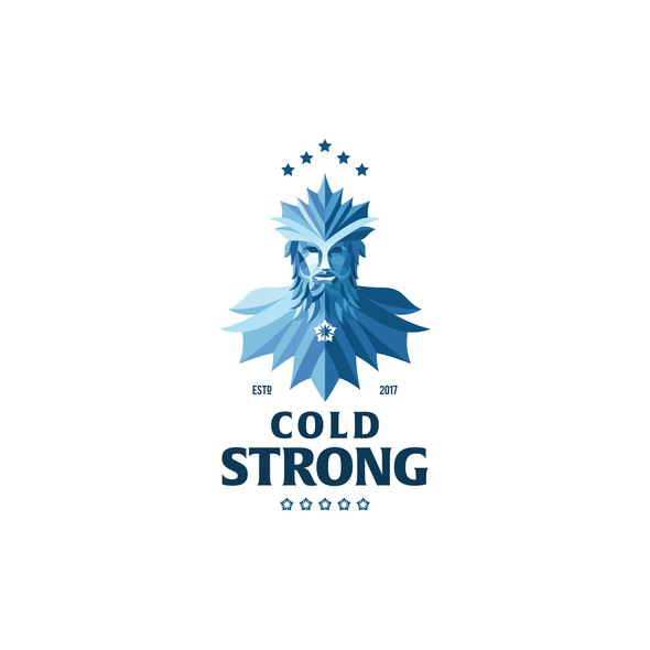 Beer brand with the title 'Icy concept for brewing company. '