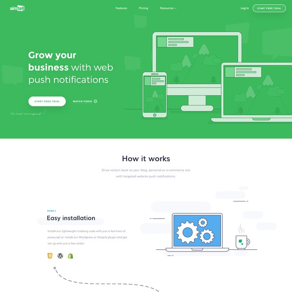 Icon website with the title 'Illustrated design for SaaS website'