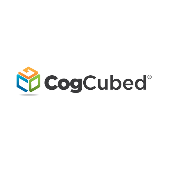 Green and orange logo with the title 'Logo for CogCubed'