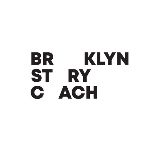 Minimalist brand with the title 'Brooklyn Story Coach Logo and Branding'