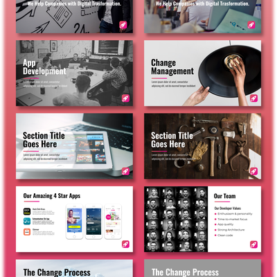 Modern & Edgy PowerPoint Template for a Digital Transformation Firm