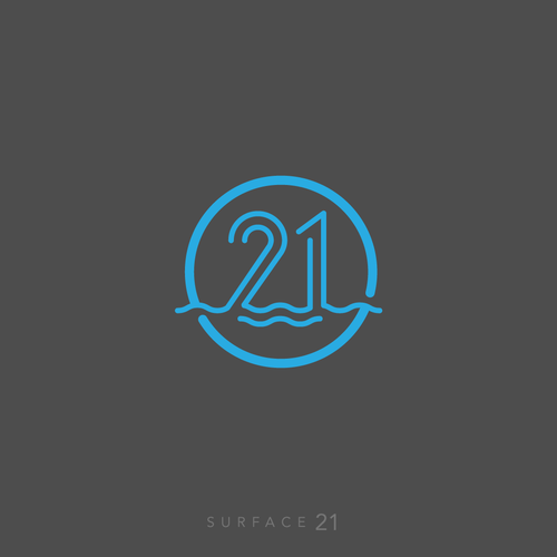 Surf club logo with the title 'Sophisticated logo for Surface 21'