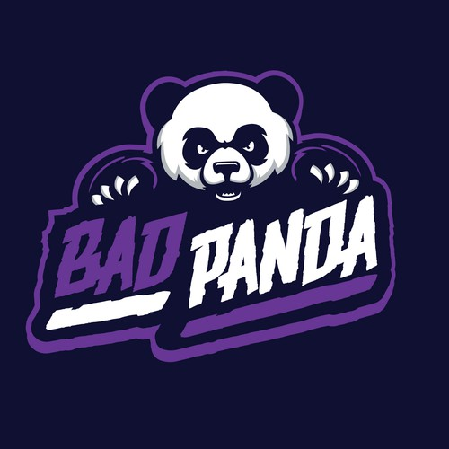 Panda logo with the title 'bold angry panda'