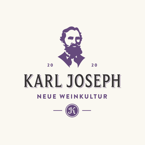 Winery logo with the title 'Karl Joseph'