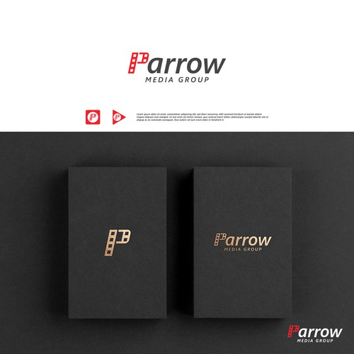 Production house design with the title 'Parrow video production company logo'