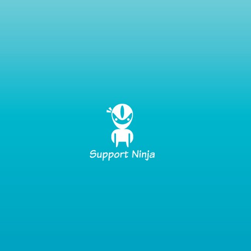 Support logo with the title 'Ninja Character Logo'