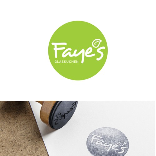 Fresh food logo with the title 'Faye's superfood logo'