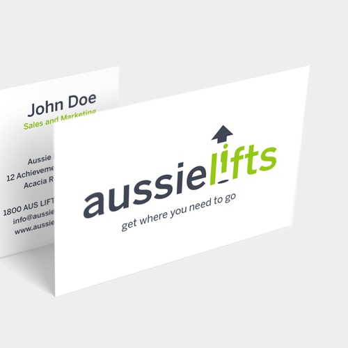 Arrow brand with the title 'Logo for Aussie Lifts'
