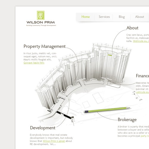 Construction website with the title 'Novel Website for Real Estate and Finance Start-up!'