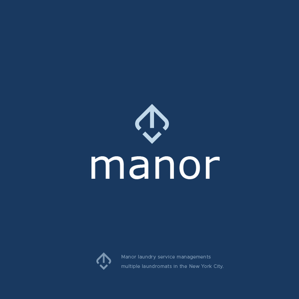 Laundry design with the title 'Manor'