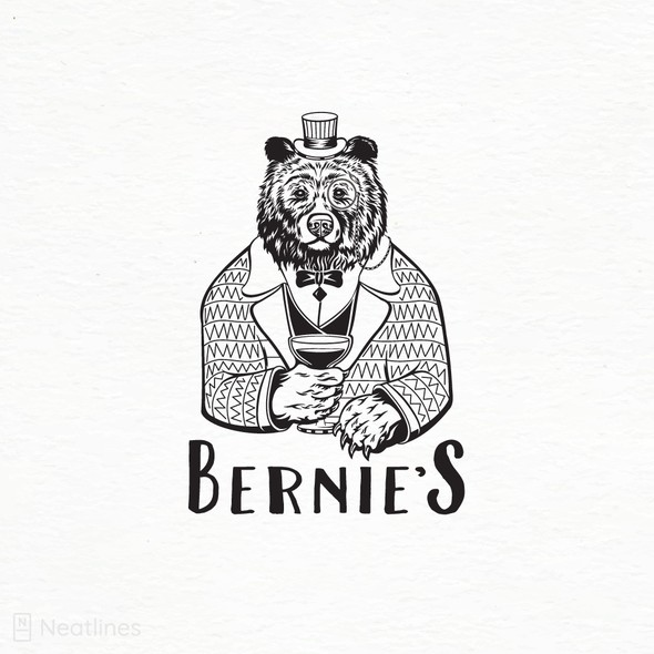 Liquor logo with the title 'Bernie's '