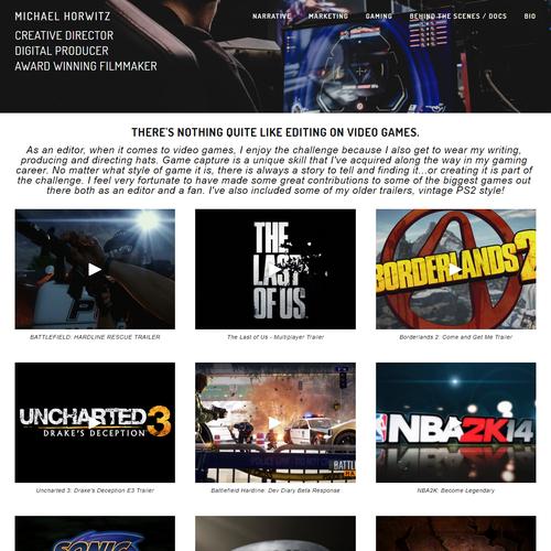 JavaScript design with the title 'Eucalyptus Films'