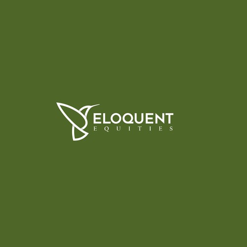 Colibri logo with the title 'Eloquent Equities Logo Design'