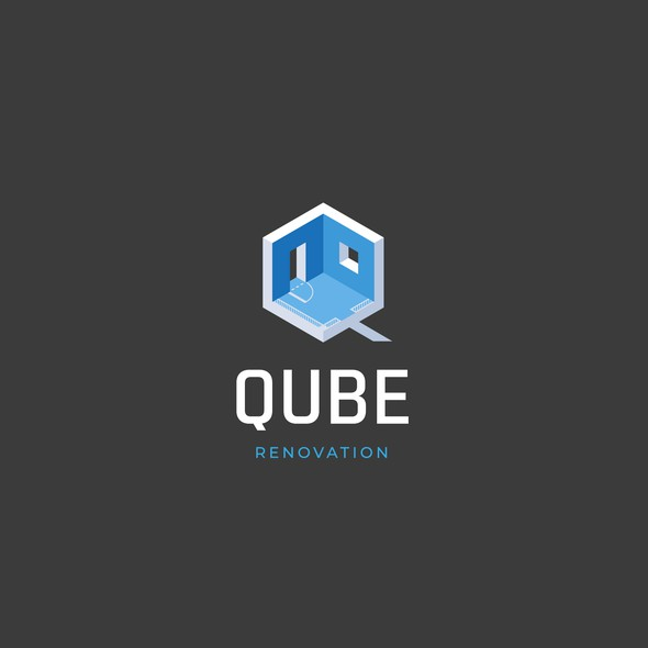 Window logo with the title 'Qube Renovation '