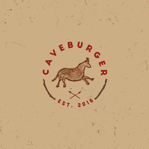 Cave logo with the title 'Logo for burger fast food'