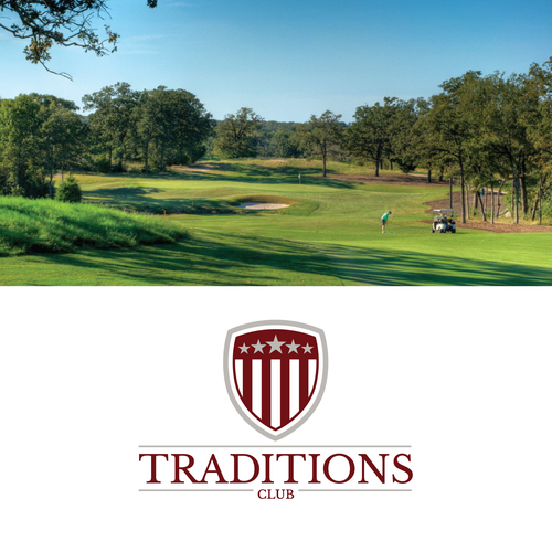 Traditional logo with the title 'Design a logo for Traditions Club, a golf club with close affiliations to Texas A&M University.'