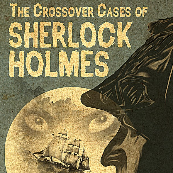 Dracula design with the title 'Book cover for Sherlock Holmes Story Featuring Dracula'