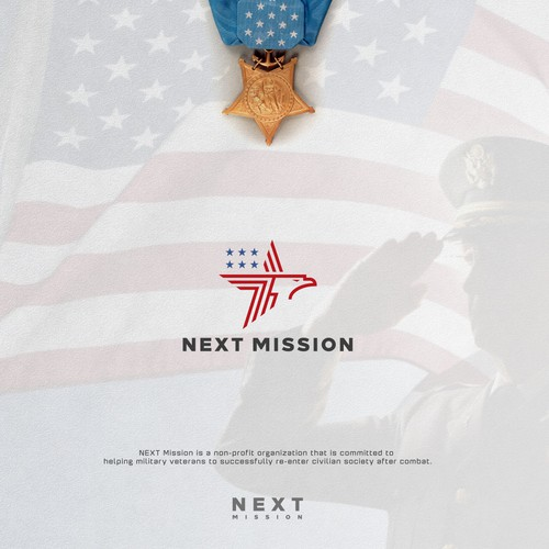 Veteran design with the title 'NEXT MISSION '