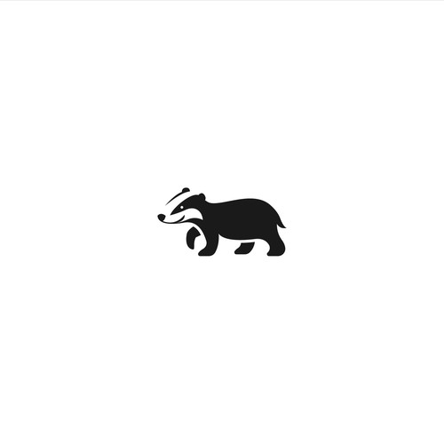 Badger design with the title 'Badger Logo'