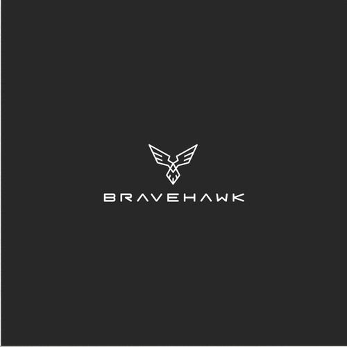 Power logo with the title 'Modern  & Masculine Bravehawk Logo'