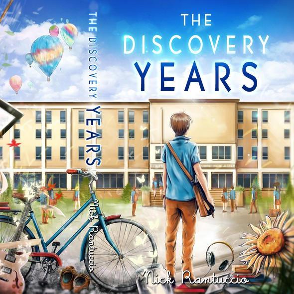 Art book cover with the title 'The Discovery Years -  book cover'