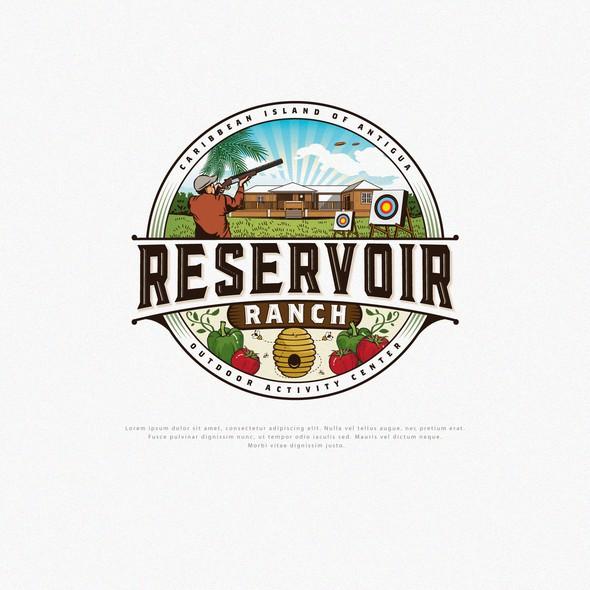Ranch brand with the title 'Logo Design for Reservoir Range'