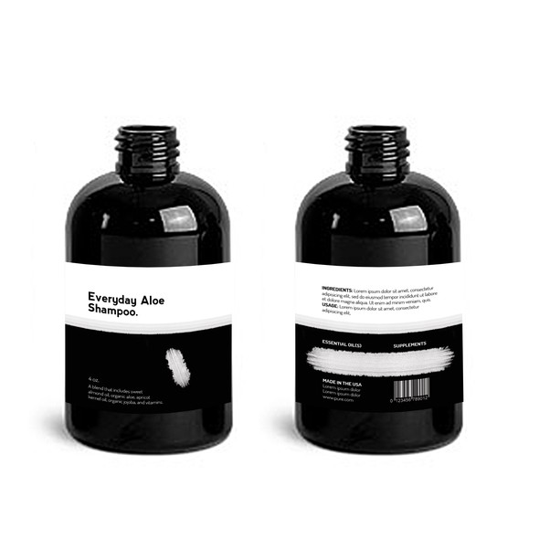 Black and white label with the title 'Product Label For Innovate New Beauty Brand'